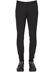 Neil Barrett Rib Cuffs Wool Blend Gabardine Pants
