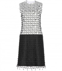 Edun Lace Overlay Wool Blend Dress Black
