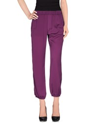 Patrizia Pepe Sera Trousers Casual Trousers Women Mauve