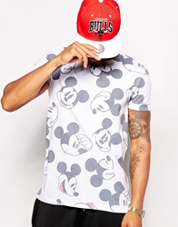 Asos T Shirt With All Over Mickey Mouse Print White