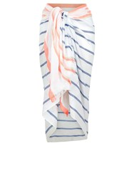 Accessorize Beach Stripe Sarong Navy
