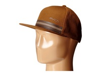 Rvca Barlow Twill Snapback Chestnut Baseball Caps Brown