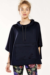 Without Walls Fleece Poncho Black