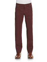 Salvatore Ferragamo Cotton Straight Leg Jeans Bordeaux