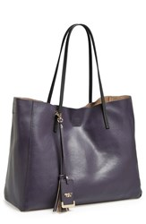 Poverty Flats By Rian 'Colorful' Faux Leather Shopper Blue Navy Black