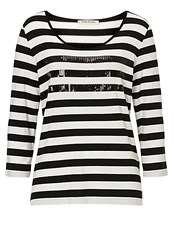 Betty Barclay Striped Top With Sequins Black