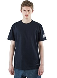 Marius Petrus Logo Print Short Sleeved T Shirt Black
