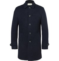 Oliver Spencer Wool Coat Navy
