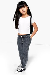 Boohoo High Waisted Tube Jeans Grey