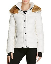Aqua Kelly Short Puffer Jacket White