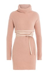 Valentino Virgin Wool Turtleneck Pullover With Cashmere Rose