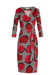 Diane Von Furstenberg New Julian Two Dress Red Multi