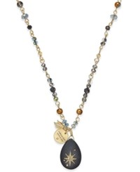 Lonna And Lilly Wishing Star Pendant Necklace Black