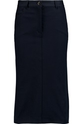 Joseph Stretch Gabardine Midi Skirt Blue