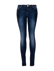Morgan Slim Fit Jeans With Oriental Embroidery Denim