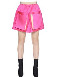 Maison Rabih Kayrouz High Waist Flared Satin Skirt