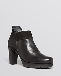 Paul Green Booties Alissa High Heel Black Leather