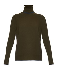 Christopher Kane Contrast Trim Roll Neck Cashmere Sweater