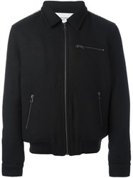 Les Benjamins Zipped Bomber Jacket Black