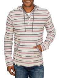 Lucky Brand Striped Knit Hoodie Natural