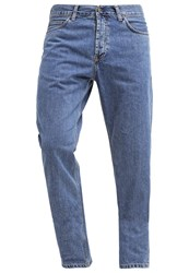 Carhartt Wip Marlow Straight Leg Jeans Blue Stone Washed Bleached Denim