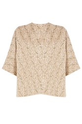 Rochas Woven Boucle Top Gold