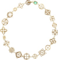 Judy Geib Emerald And Gold Casino Royale Short Necklace