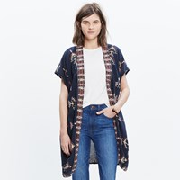 Madewell Robe Jacket In Folkstitch