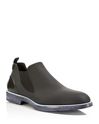 Ishu Low Rain Boots Black Grey White