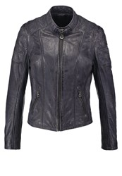 Gipsy Rica Lapav Leather Jacket Denim Blue Dark Blue