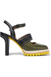Marni Leather Sandals Army Green