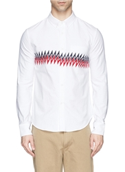 Band Of Outsiders Zigzag Stripe Cotton Oxford Shirt