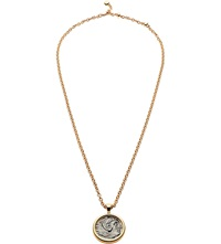 Bulgari Monete 18Ct Pink Gold Necklace With Antique Bronze Coin