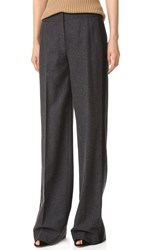 Jason Wu Wool Flannel Pants Dark Flint Melange