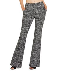 Bcbgeneration Jacquard Flared Pants Black Combo