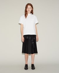 Sacai Classic Shirting Skirt Black