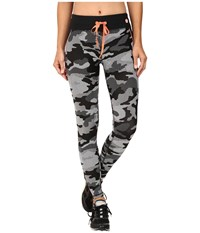 Trina Turk Congo Camo Full Length Leggings Black Women's Workout