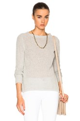 Enza Costa Flare Crew Top In Gray