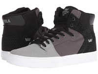 Supra Vaider Grey Gradient White Skate Shoes Gray
