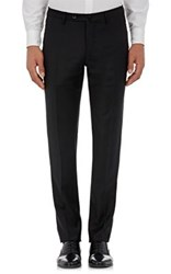 Incotex Men's S Body Slim Fit Wool Trousers Black
