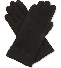 Paul Smith Accessories Shearling Gloves Black