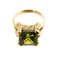 Metal Couture Lioness Of Versailles Olive Ring Large Gold
