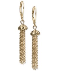 Lonna And Lilly Gold Tone Fringe Drop Earrings
