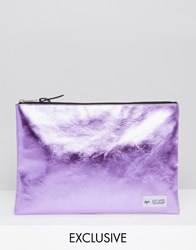 Hype Exclusive Pouch In Metallic Baby Pink Metallic Pink