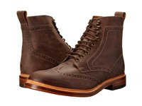 Stacy Adams Madison Ii Brown Buff Waxy Leather Men's Lace Up Wing Tip Shoes
