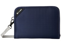 Pacsafe Rfidsafe V150 Anti Theft Rfid Blocking Compact Organizer Navy Blue Wallet