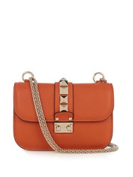 Valentino Lock Small Leather Shoulder Bag Orange