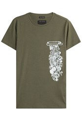 Marc Jacobs Printed Cotton T Shirt Green