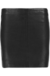 Balmain Stretch Leather Mini Skirt Black