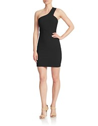 Guess One Shoulder Bandage Dress Black